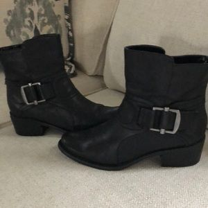 Ninw west leather boots black size 7M